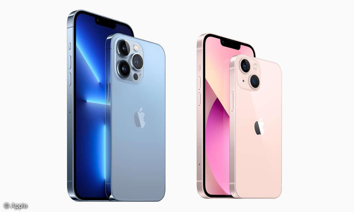 iPhone 13 (Mini) und iPhone 13 Pro (Max)