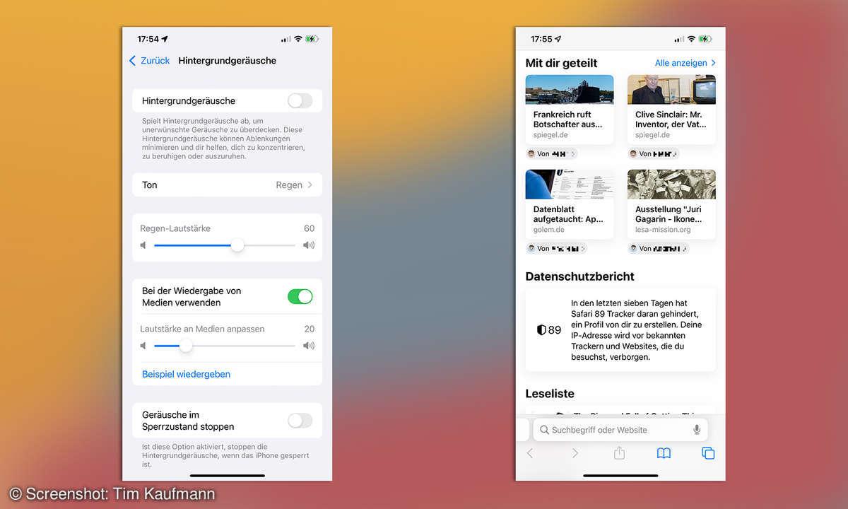 iOS 15 geteilte Inhalte