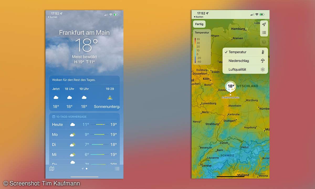 iOS 15 Wetter