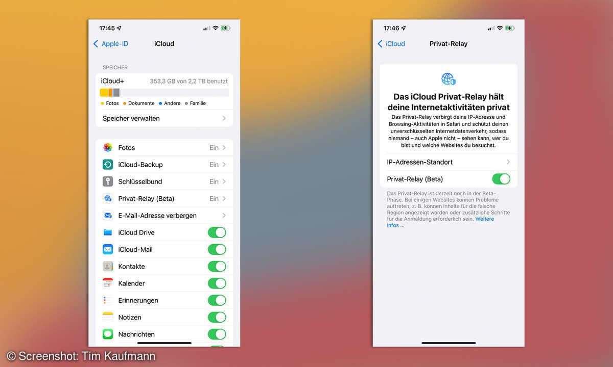 iOS 15 Privatsphäre