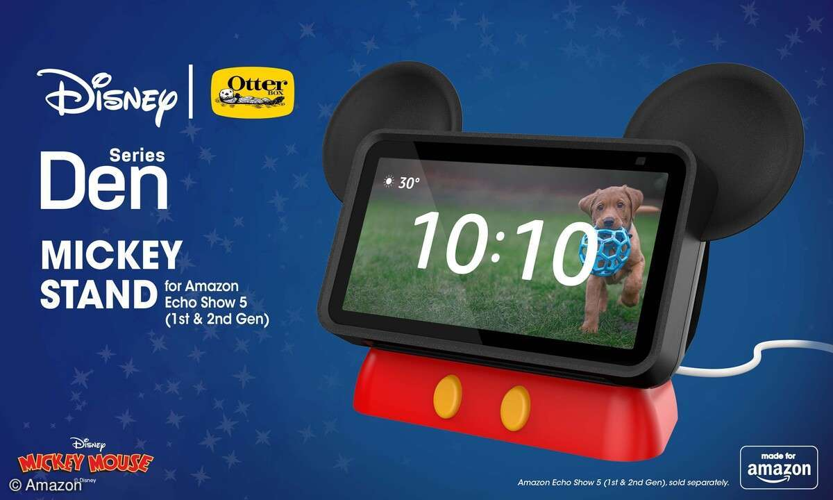 Den Echo Show 5 kann man per Schutzhülle bald auch in Disney-Optik halten.