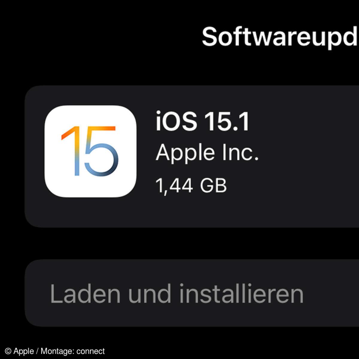 Apple iOS 15.1 Update