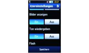 Screen Benutzereinstellungen