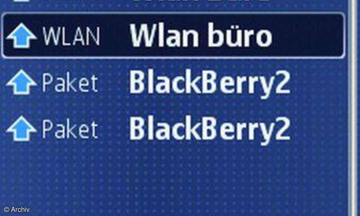 Screen S60 WLAN-Verbindung
