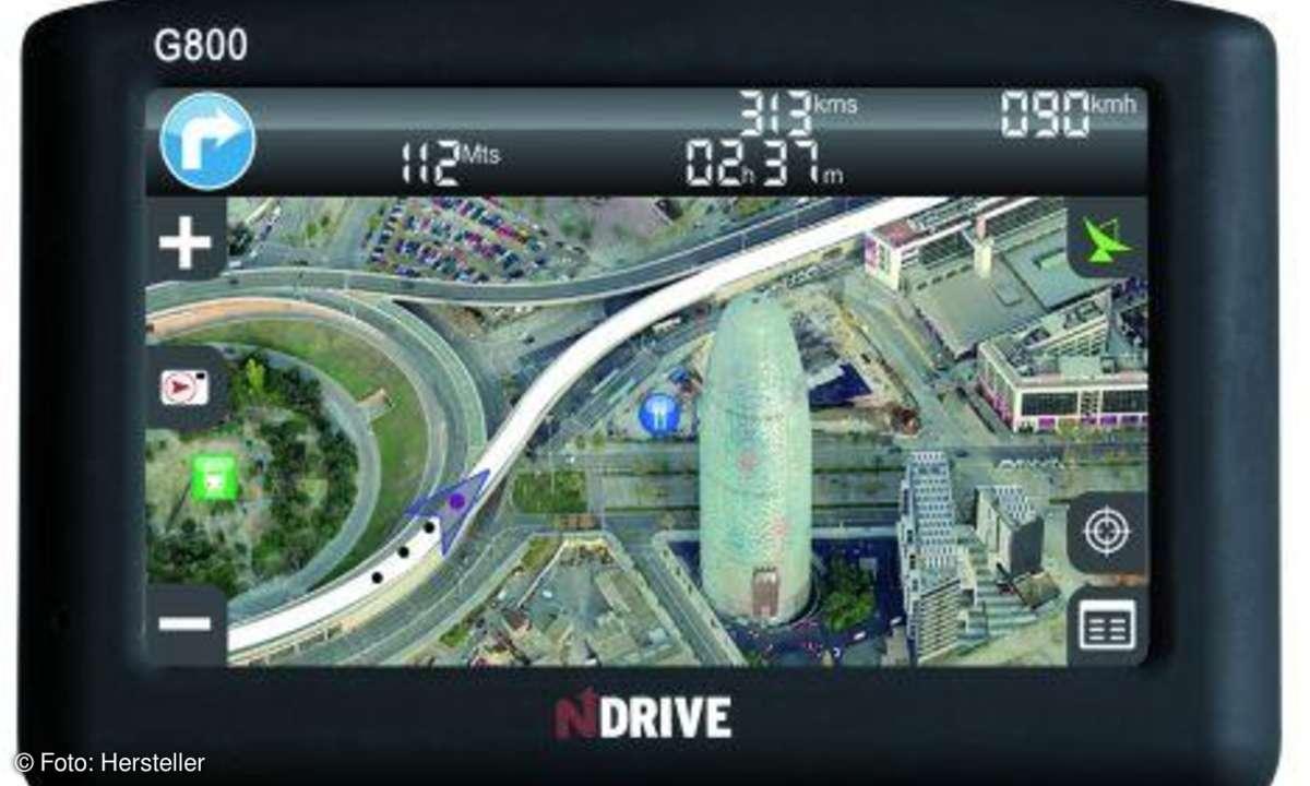 NDrive G800 Realistische Schrägbilder