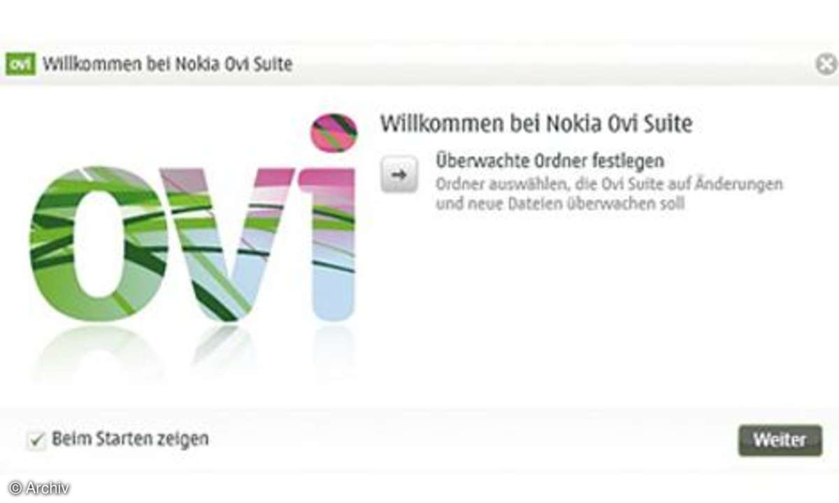 Ovi Suite von Nokia
