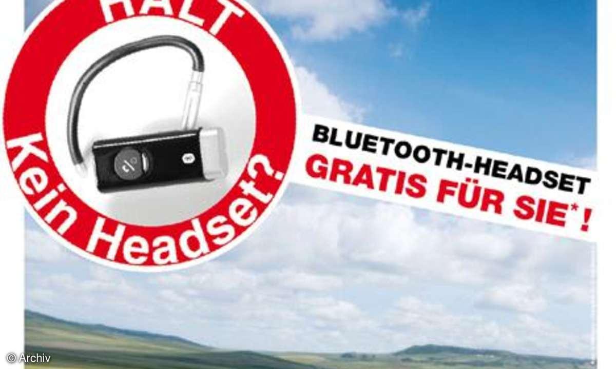 Bluetooth-Headset Black Tube von Pearl
