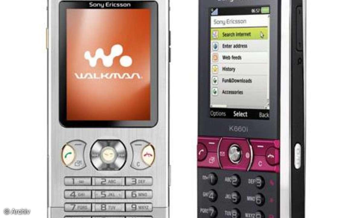 Sony Ericsson K660i und W890i