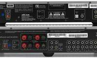 Kombitest Player/Verstärker-Kombination SACD/CD-Player Arcam CD 37, Vollverstärker Arcam A 38 Rückseite