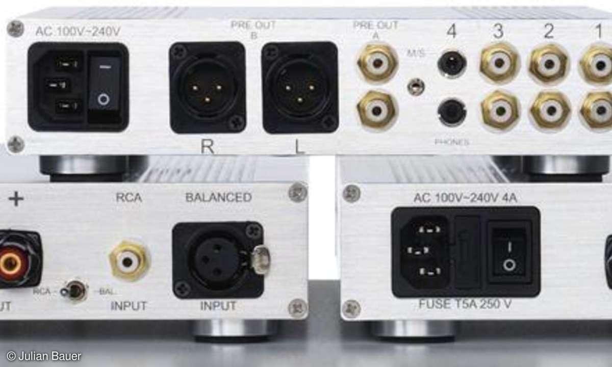 Kombitest Vor/Endverstärker NuForce P 8, NuForce Reference 8.5