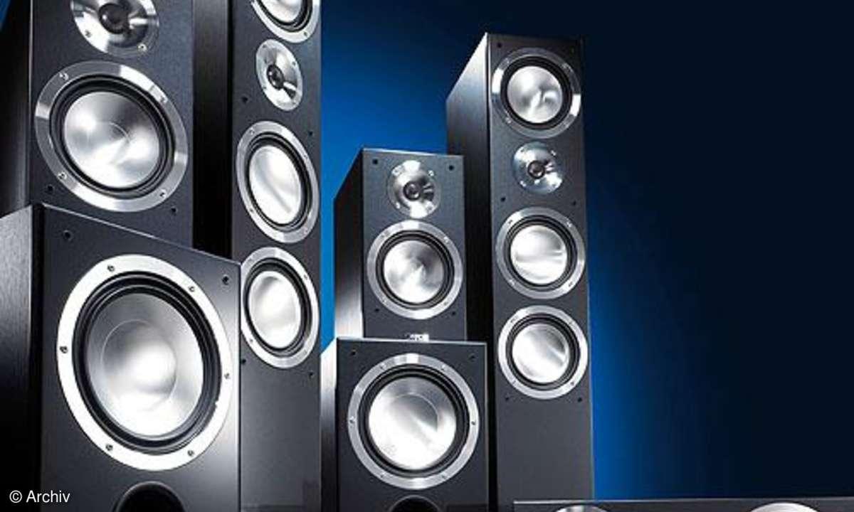 Vergleichstest Surroundlautsprecher-Sets Canton Chrono/2x AS 525, KEF iQ / PSW 2500, Klipsch RF/ RW 12d, Nubert nuBox/2x AW 991, Teufel Theater LT 6