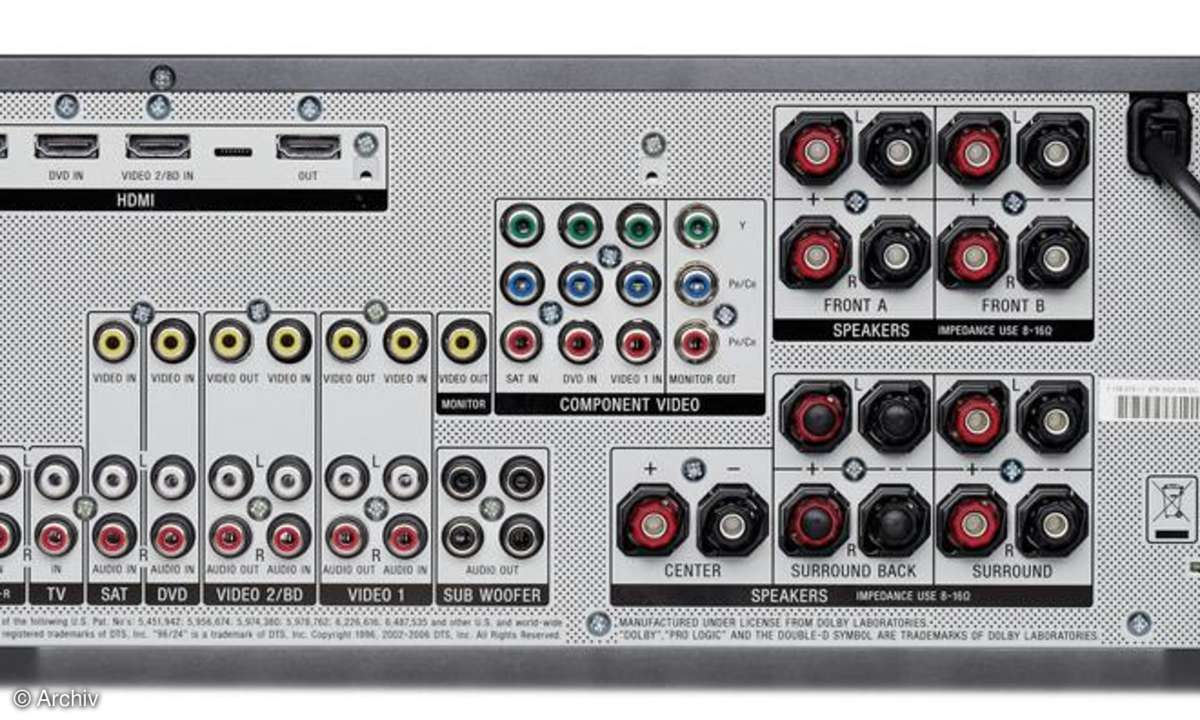 Surround-Receiver Sony STR DG 910 Rückseite