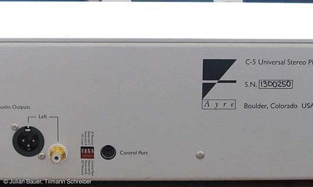 CD-Player Ayre C 5 XE Rückseite