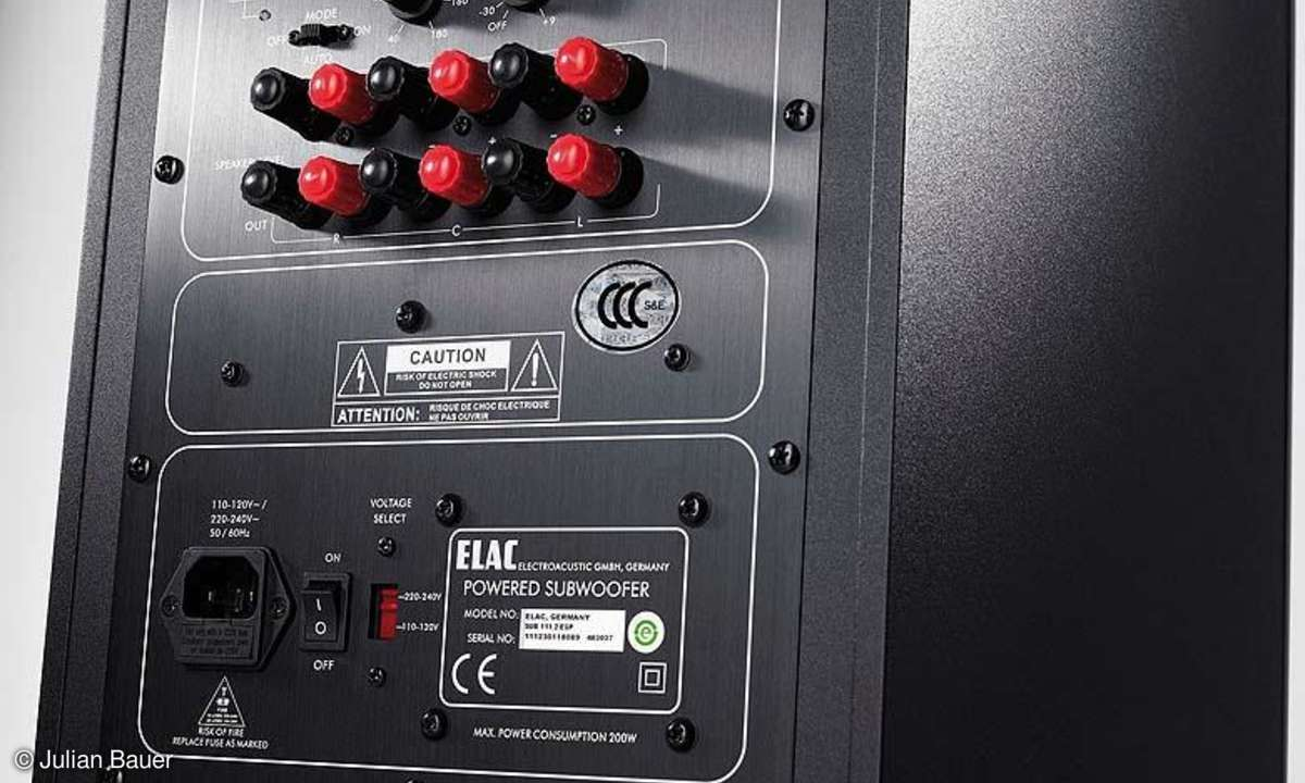 Kompaktlautsprecher-System Elac BS 243 / Sub 111.2, Rückseite