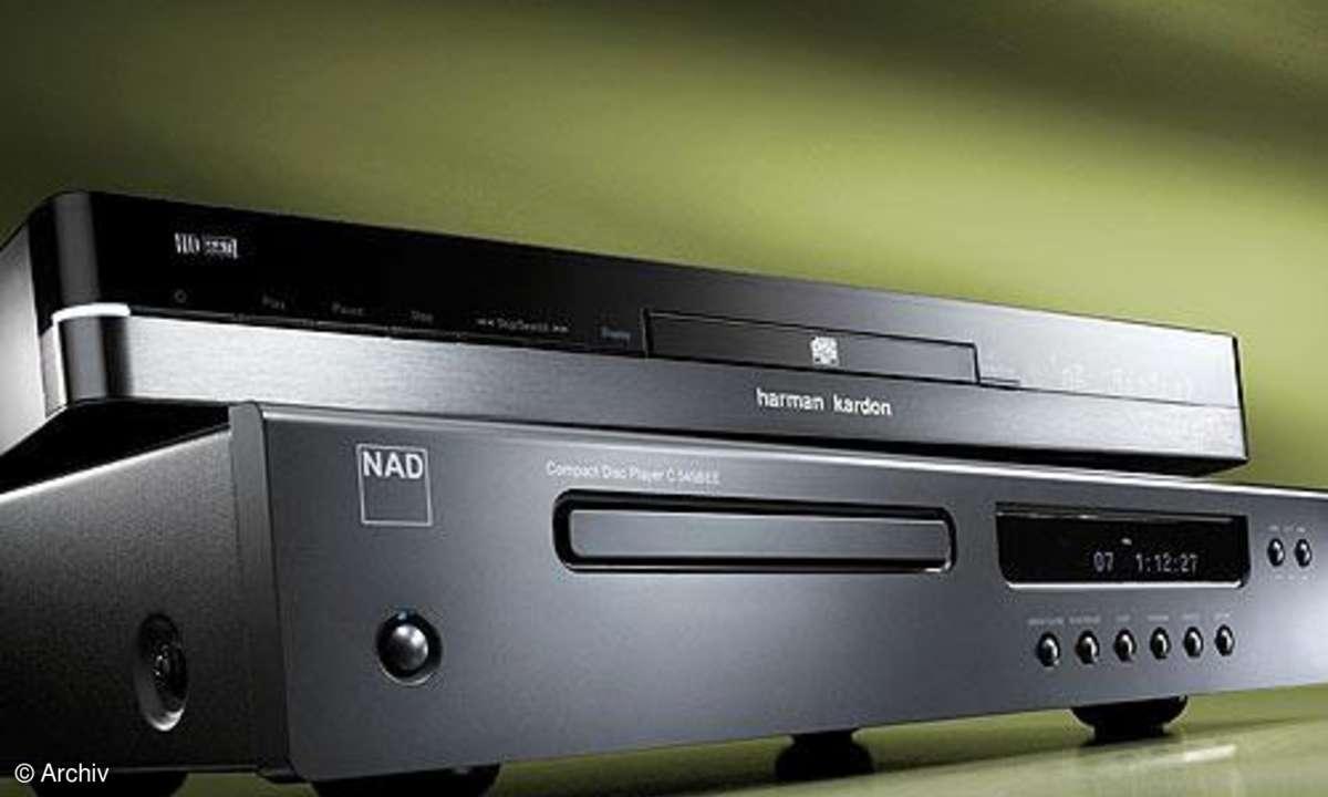 Vergleichstest CD-Spieler Harman HD 990, NAD C 545 BEE