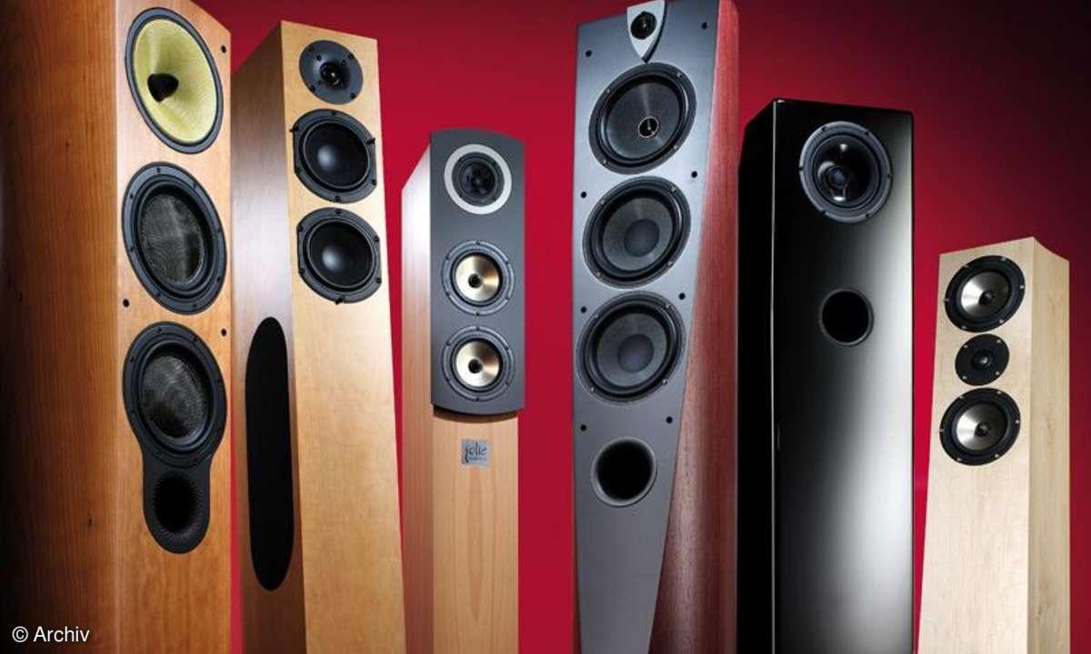Vergleichstest Lautsprecher B&W 804 S, Audio Physic Scorpio, Audiodata Jolie, Focal Profile 928, Ascendo C 7, Sonics Aguilla