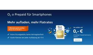 Neue O2-Prepaid-Flat für Smartphones
