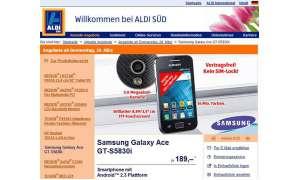 Samsung Galaxy Ace bei Aldi im Aktionsprogramm