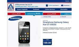 Aldi Nord Aktion, Samsung Galaxy Ace