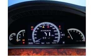 Mercedes S-Klasse Digitalanzeige