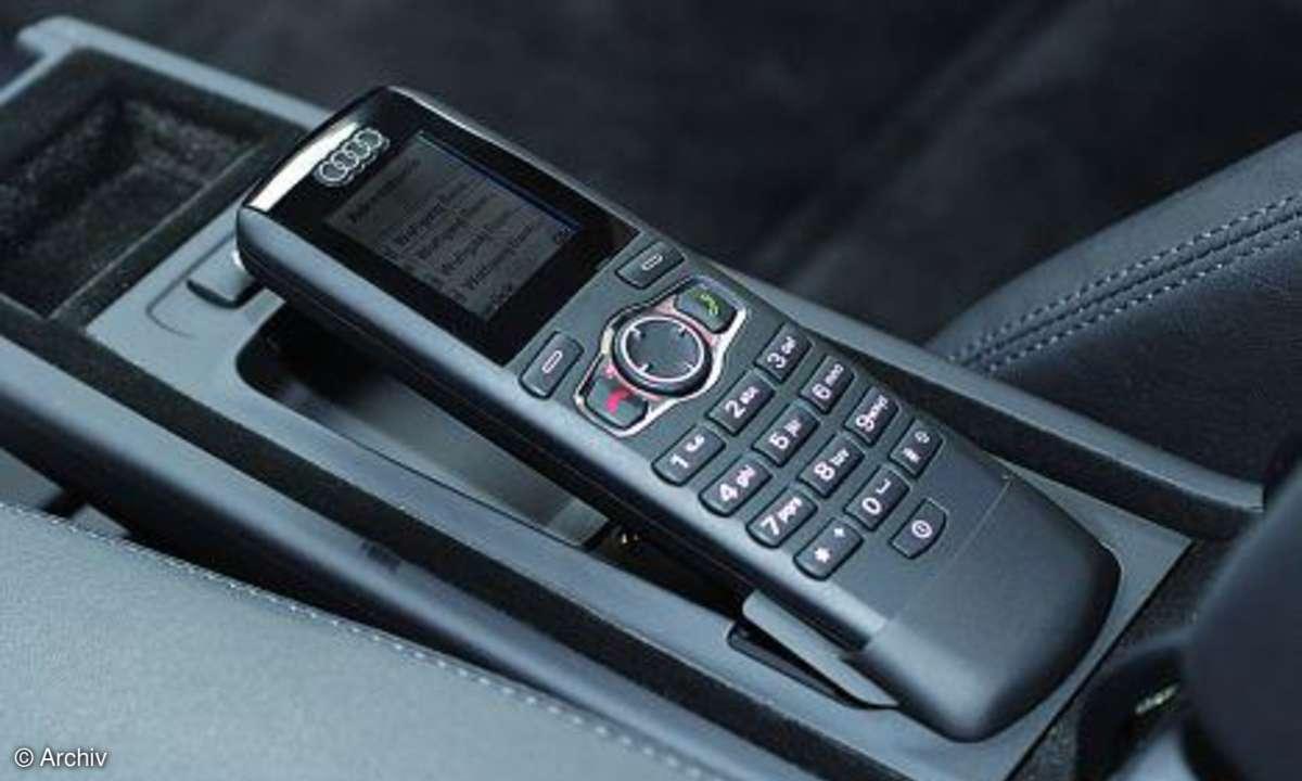Audi A8 Telefonhörer
