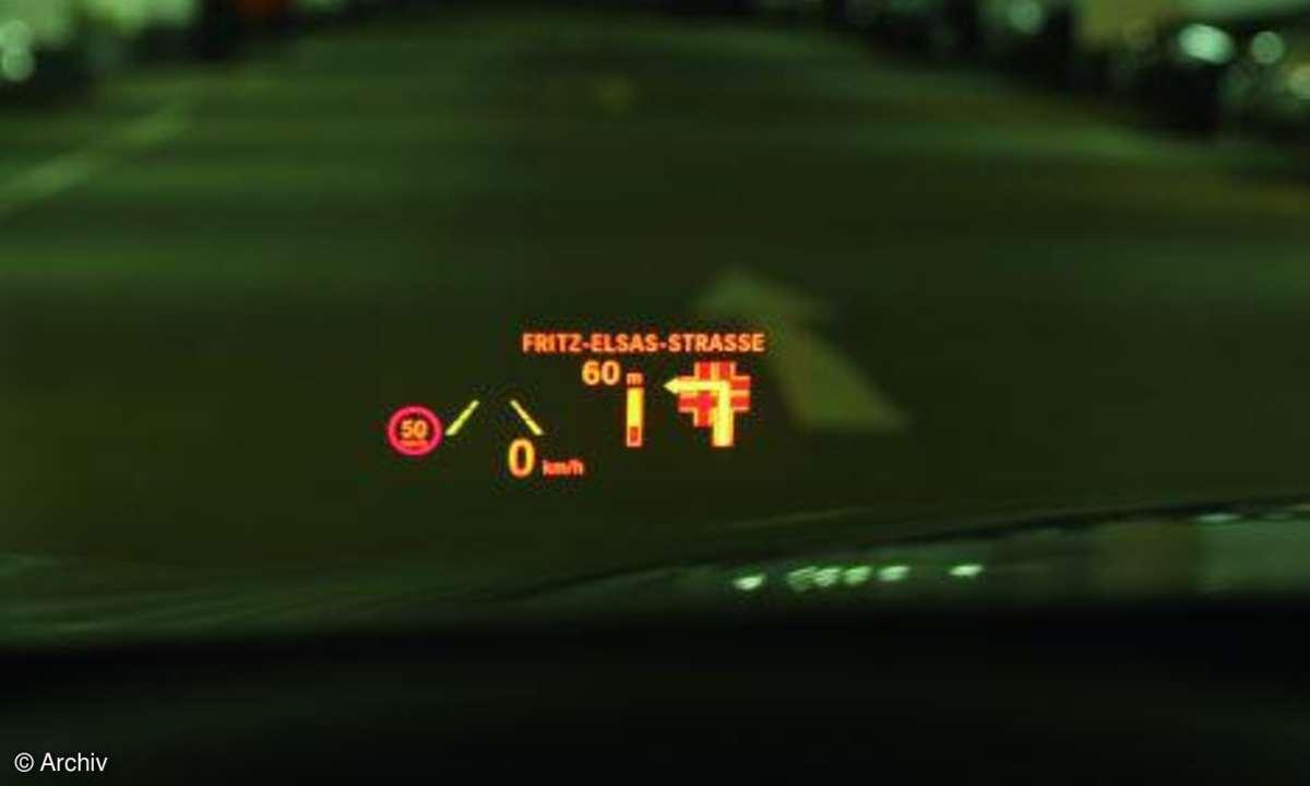 BMW 7er Headup-Display
