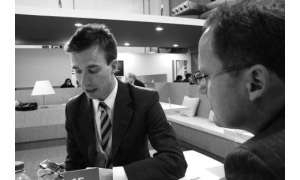 Nokia Vice-President Ilari Nurmi und connect-Chefredakteur Dirk Waasen