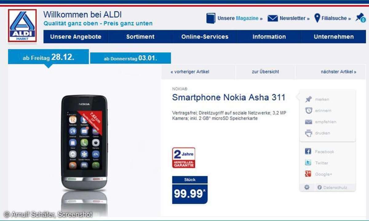 Aldi Nord Aktion, Nokia Asha 311