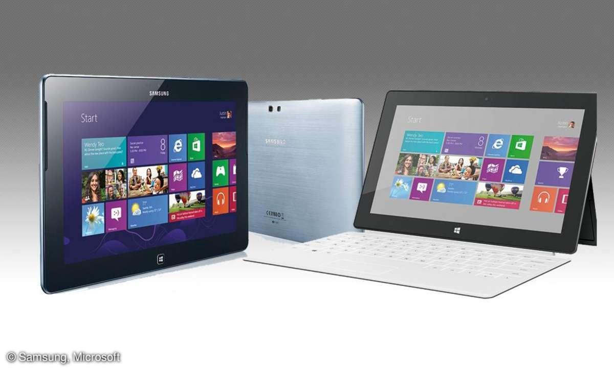 Samsung Ativ Tab, Microsoft Surface