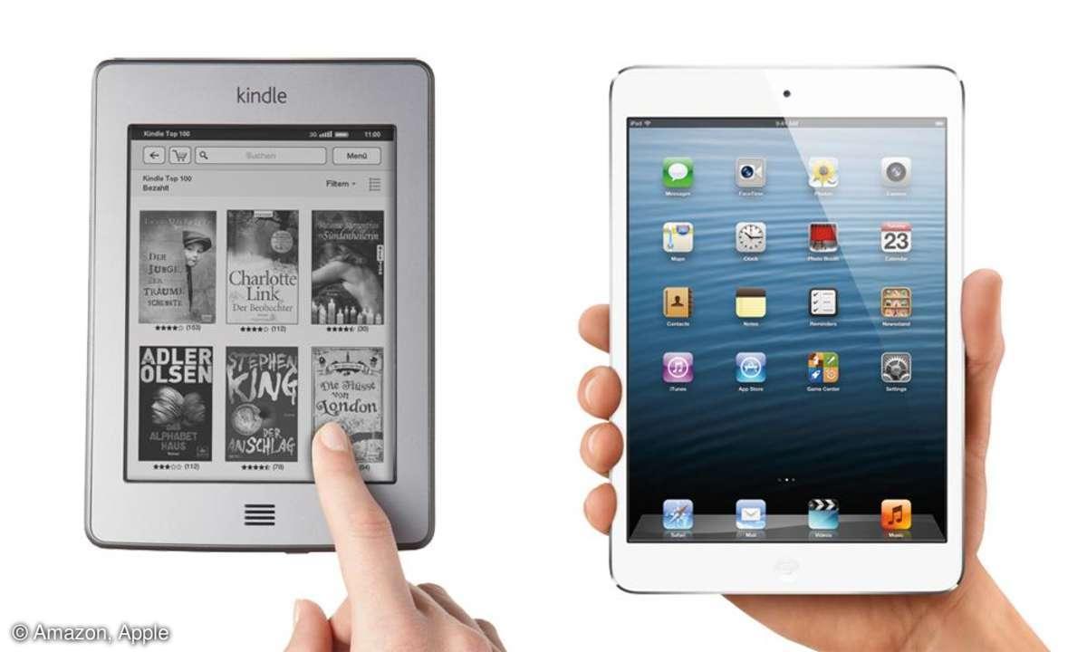 Kindle, iPad mini
