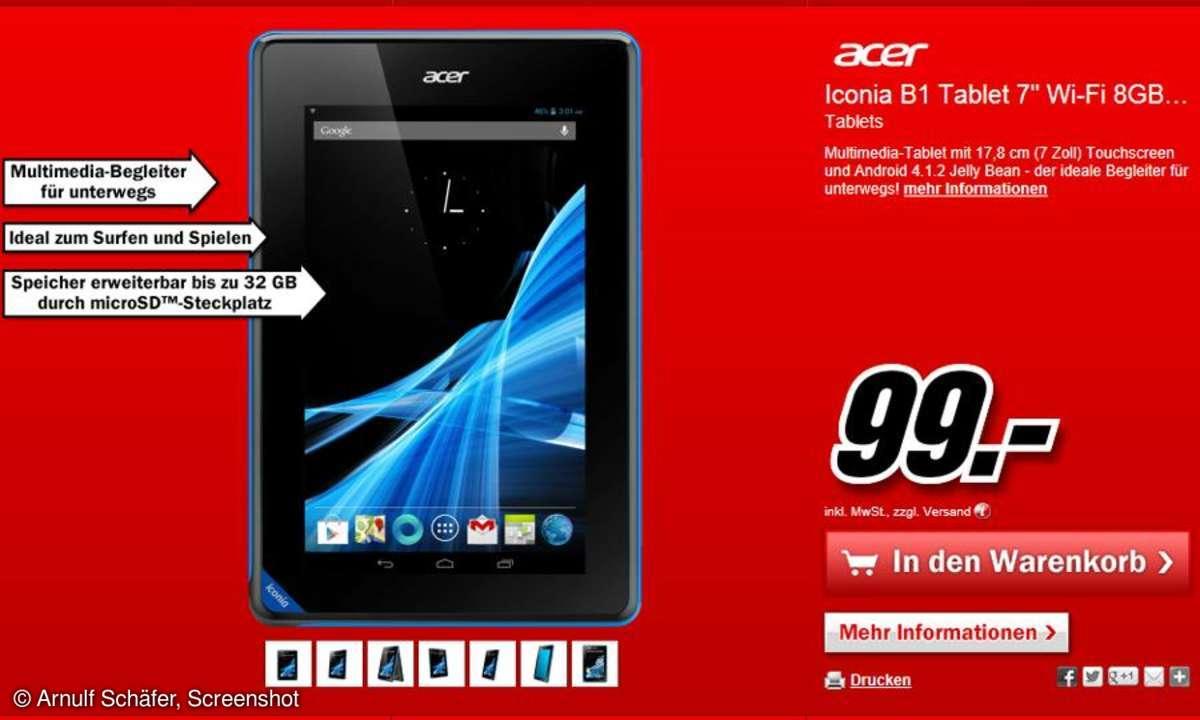 Media Markt,Acer Iconia B1