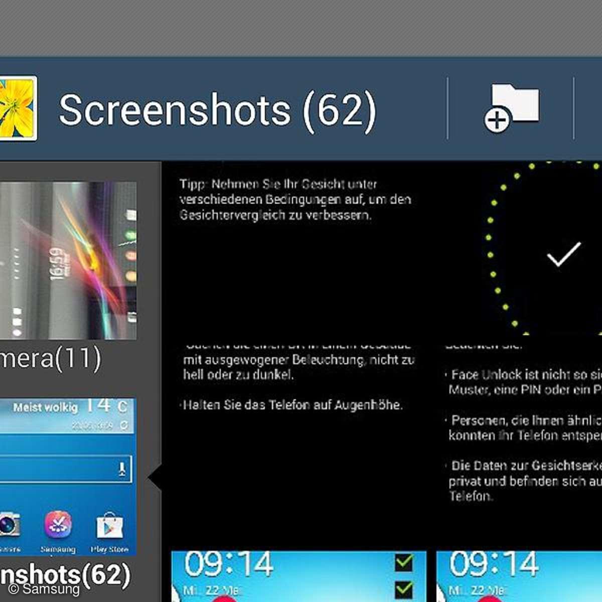 Samsung Galaxy S4: Screenshot erstellen