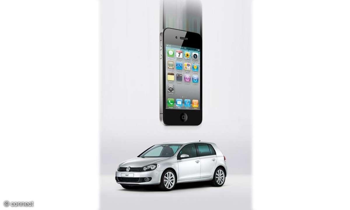Apple iPhone - VW Golf