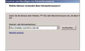 WebDAV im Explorer einrichten