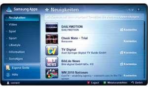 Internet-TV von Samsung - Apps