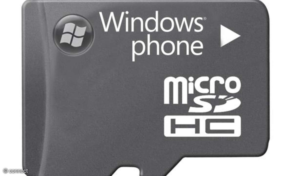 Windows Phone 7 microSD-Karte