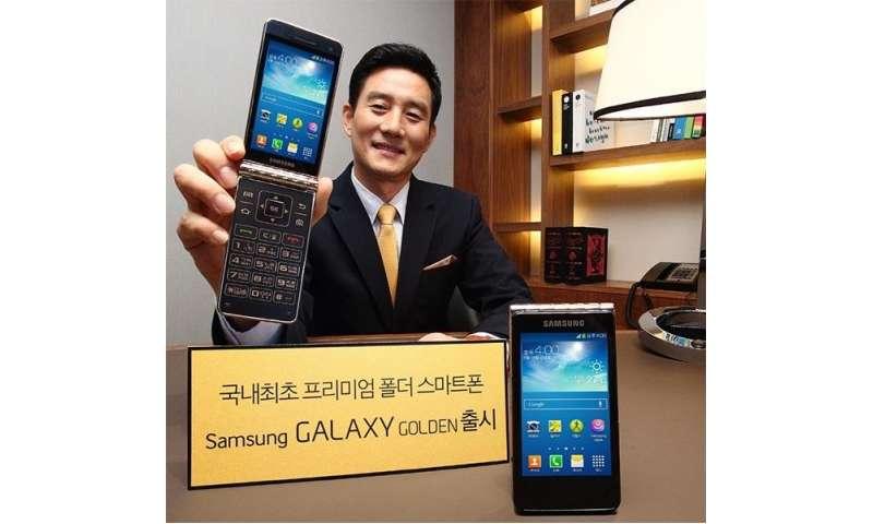 Samsung Galaxy Golden Flip Phone Mit Android Connect