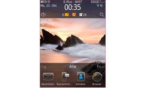 Blackberry Torch mit OS 6 - Startseite Horizontal