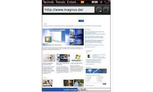 Schnell und Schick: Der neue Browser unterstützt auch Registerkarten