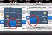 Schwierig: Die Kontext-Menüs, die sich per Druck auf das optische Trackpad oder langes drucken auf einen Eintrag öffnen, sind unterschiedlich sortiert