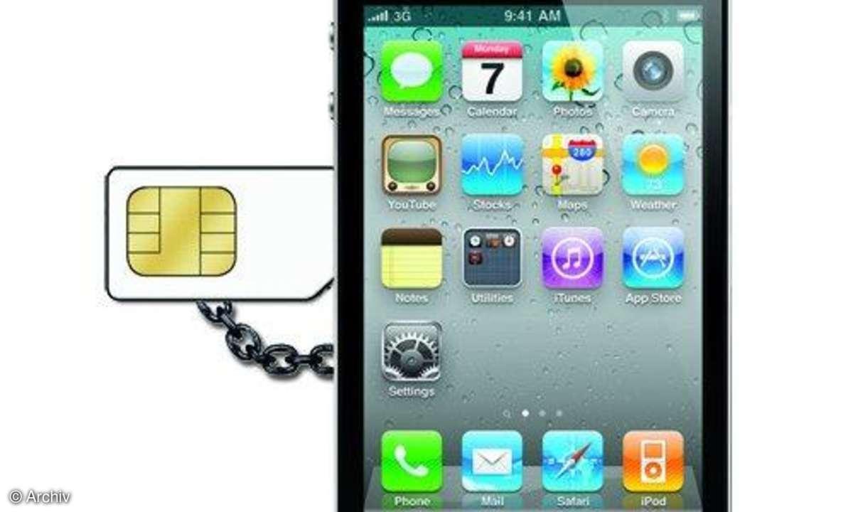 Apple iPhone mit integrierter SIM-Karte