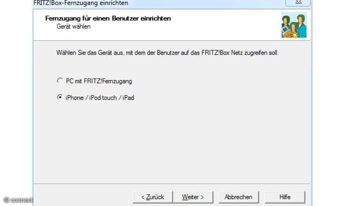 Fritzbox iPhone-Datei erzeugen