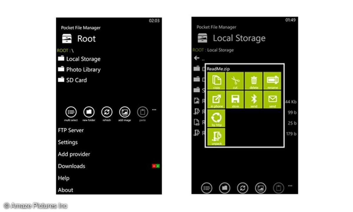 Pocket File Manager Screenshot