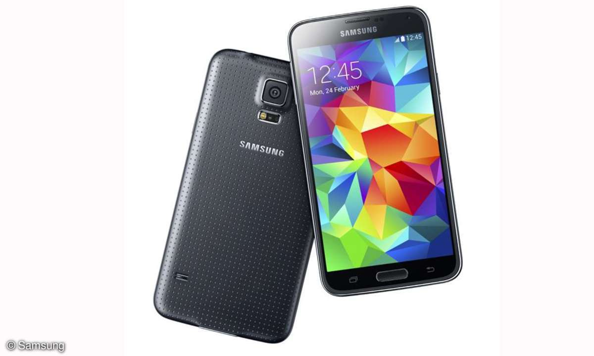 Samsung Galaxy S5: Auf dem MWC 2014 hat Samsung sein neues Smartphone-Flaggschiff präsentiert.