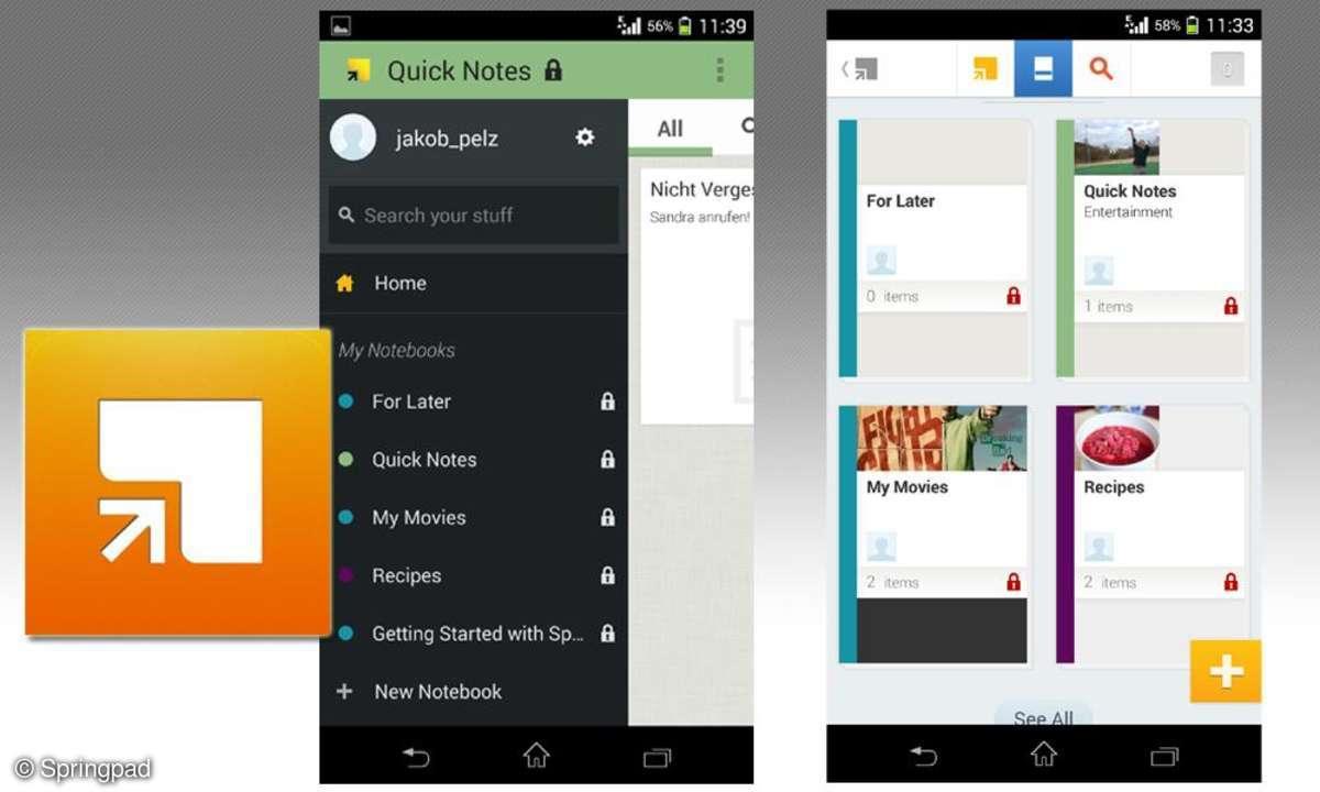 Notiz-App: Springpad im Test - To-Do-App mit hohem Potenzial