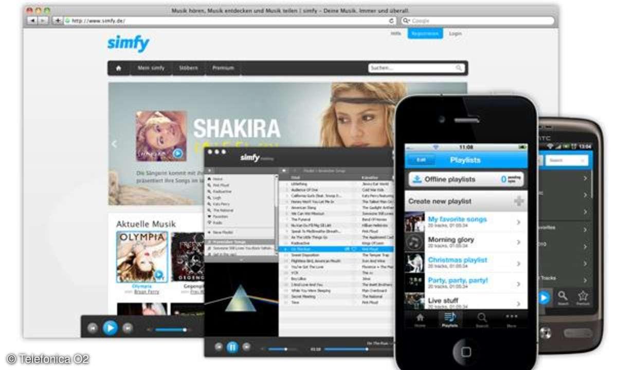 O2 kooperiert mit Musikstreaming-Dienst Simfy