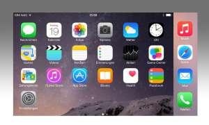 Apple iPhone 6 Plus Homescreen