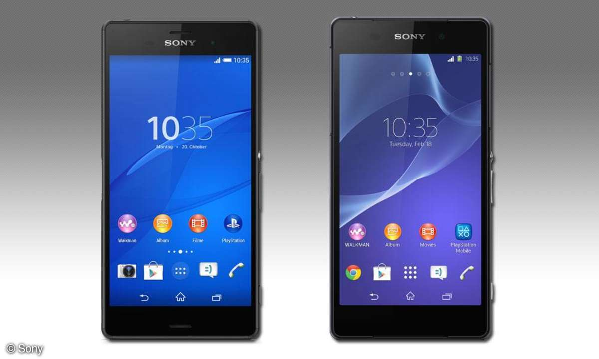 Sony Xperia Z3 vs Z2
