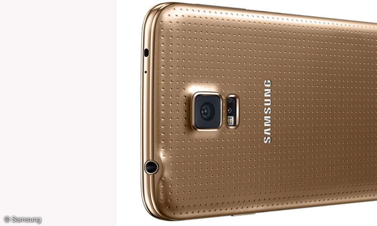 Samsung Galaxy S5 in Gold