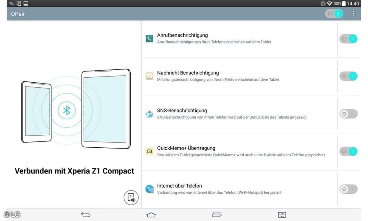 Screenshot LG G Pad